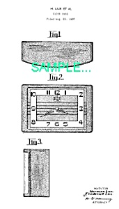 Patent Art: 1930s Lux Art Deco DESK CLOCK - Matted (Image1)