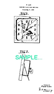 Patent Art: 1930s Lux SHOESHINE BOY ANIMATED CLOCK (Image1)