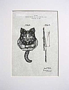 Patent Art: 1930s Lux GOOD LUCK CAT PENDULETTE CLOCK (Image1)