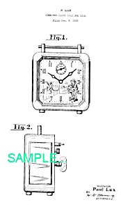 Patent Art: 1930s Lux Organgrinder Animated Clock