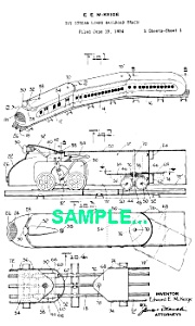 Patent: 1930s MARX STREAMLINED Toy TRAIN (Image1)