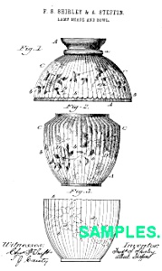 Patent:1880s Mount Washington Glass Lampshade