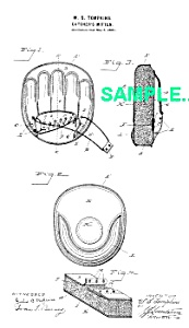 Patent: 1890s BASEBALL CATCHERS MITTEN (Image1)
