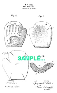 Patent Art: 1890s BASEBALL GLOVE - matted (Image1)