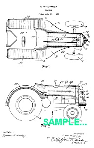 Patent Art: 1939 JOHN DEERE TRACTOR - matted (Image1)