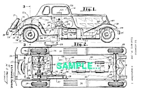 Patent: 1930s MARX Automobile Windup TOY (Image1)