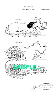 Patent: 1930s MARX PLUTO ROLLOVER Windup (Image1)