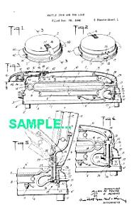 Patent: 1940s MANNING BOWMAN Waffle Iron (Image1)
