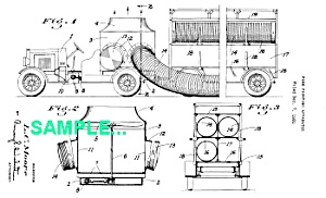 Patent Art: 1933 FIREFIGHTING APPARATUS - Matted (Image1)