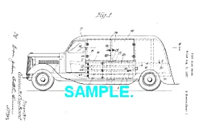 Patent Art: 1930s FIRE HOSE TRUCK - Matted (Image1)