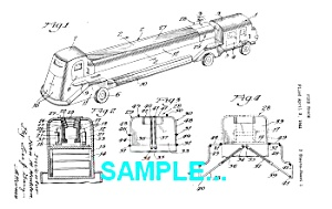 Patent Art: 1940s Fire Truck - Matted