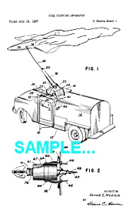 Patent Art: 1950s FIRE TRUCK - Matted (Image1)