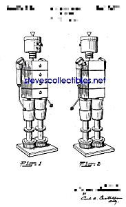 Patent Art: 1940s American Viscose ROBOT - Mech. Man (Image1)