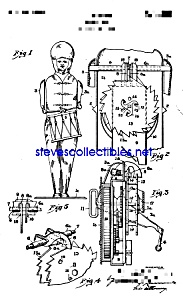 Patent Art: 1930s Wolverine Drum Major Tin Toy