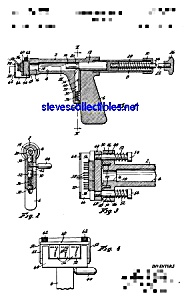 Patent Art: 1960s TATTOO GUN - matted for framing -8x10 (Image1)
