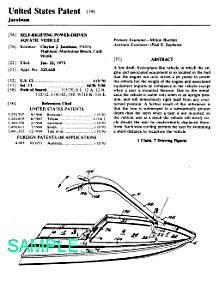 Patent Art: 1970s JETSKI Seadoo COOL! (Image1)