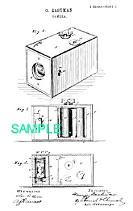 Patent Art: 1888 BOX CAMERA - Geo Eastman - matted (Image1)
