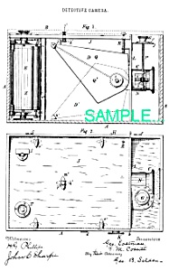 Patent Art: 1800s Detective Camera - Matted Print