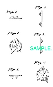 US Patent: STAR TREK INSIGNIA (Image1)