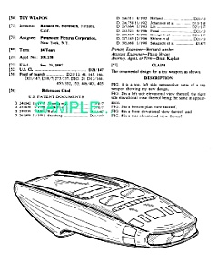 Patent Art: STAR TREK Type I Phaser (TNG)-matted (Image1)