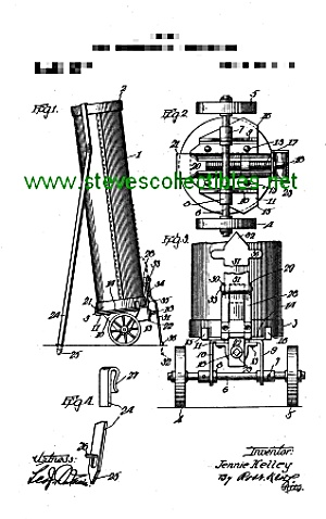 Patent Art: 1917 WHEELED GOLF BAG - Matted (Image1)