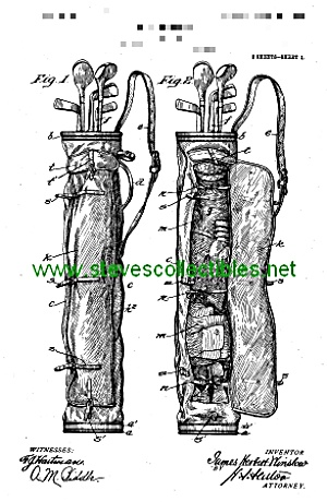 Patent Art: 1905 Golf Club Bag - Matted For Framing