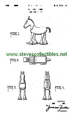Patent Art: 1950s Marx HORSE RAMP WALKER TOY (Image1)