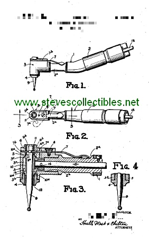 Patent Art: 1940s Painless Dental Drill - Matted Print