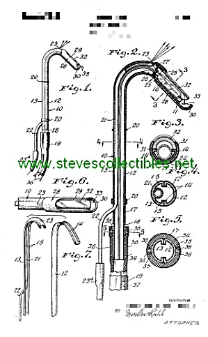 Patent Art: 1940s DENTAL SALIVA EJECTOR - Matted Print (Image1)