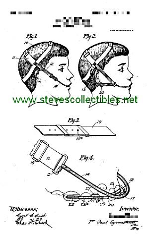 Patent Art: 1907 DENTAL APPARATUS BRACES Headgear (Image1)