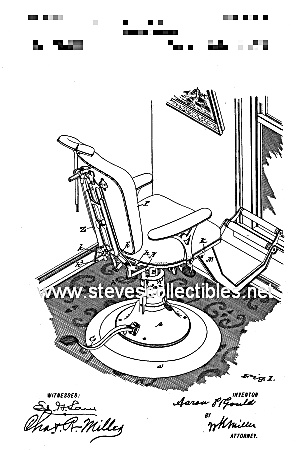 Patent Art: 1890s DENTAL CHAIR  - Matted Print (Image1)