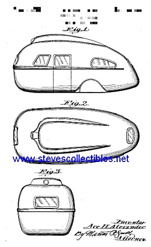 Patent Art: 1930s Travel Trailer - Matted