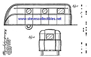 Patent Art: 1940s Palace Travel Trailer - Matted