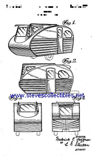 Patent Art: 1940s Streamlined Small Travel Trailer