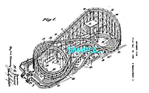 Patent Art: 1930s CYCLONE ROLLER COASTER by H. Traver (Image1)