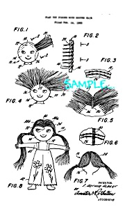 Patent Art: 1970s Ideal FLATSY DOLL- Matted Print (Image1)