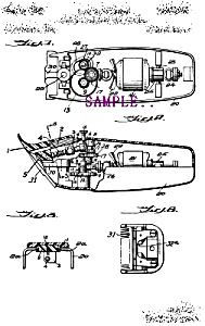 Patent Art: 1960s Taper-Cut HAIR CLIPPERS - matted (Image1)
