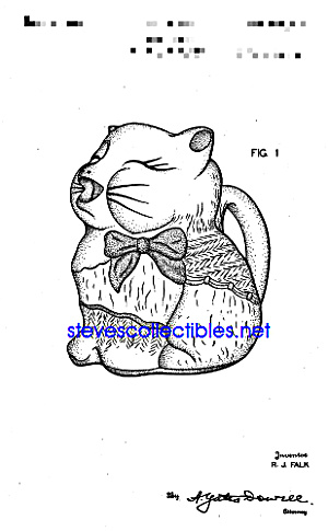 Patent Art: 1940s SHAWNEE PUSS'N BOOTS Creamer (Image1)