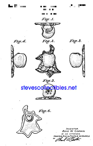 Patent Art: 1940s APPLE Pottery WALL POCKET (Image1)