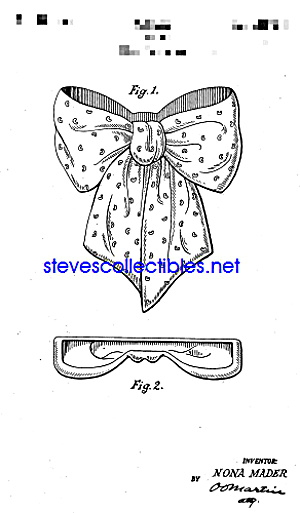 Patent Art: 1940s BOW SHAPED Pottery WALL POCKET (Image1)