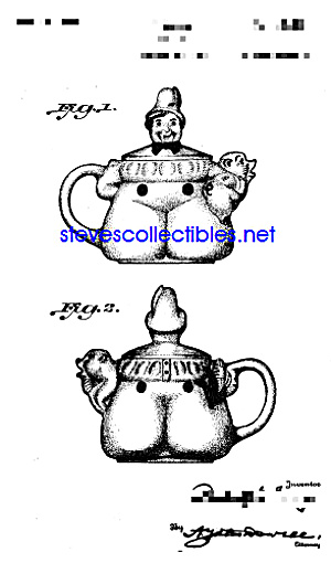 Patent Art: 1940s SHAWNEE Tom Pipers Son TEAPOT (Image1)