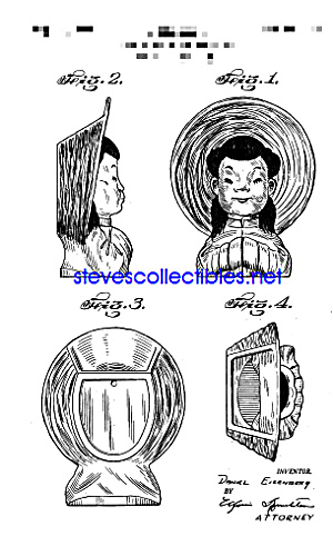 Patent Art: 1950s ASIAN GIRL Spaulding WALL POCKET (Image1)