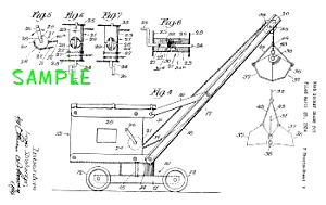 Patent Art: 1920s STRUCTO Toy BUCKET CRANE (Image1)