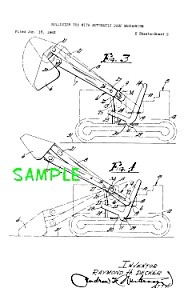 Patent Art: 1960s STRUCTO Toy BULLDOZER (Image1)