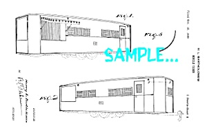 Patent Art: 1950s MOBILE DINER DESIGN - Matted Print (Image1)