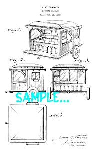 Patent Art: 1930s DINER DESIGN - Matted Print (Image1)