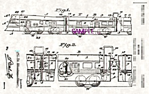 Patent Art: 1930s AMERICAN FLYER Zephyr Model TRAIN (Image1)