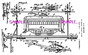 Patent Art: 1920s AMERICAN FLYER Toy Trolley Street Car (Image1)