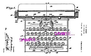 Patent Art: 1930s AMERICAN FLYER Toy TYPEWRITER (Image1)