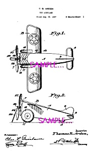 Patent Art: 1920s AMERICAN FLYER Toy Airplane (Image1)